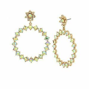 Betsey Johnson  yellow stone bee mine earrings Nwt